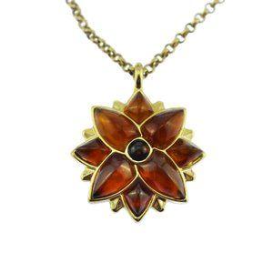 Monet Gold Flower Pendant Necklace